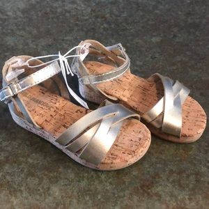 BNWT, old navy Velcro closure fancy gold sandals